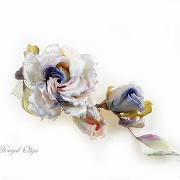 Свадебный салон ручной работы. Ярмарка Мастеров - ручная работа Для прически Веточка Лиловых роз. Handmade.