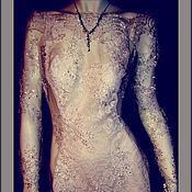 Одежда handmade. Livemaster - original item Dress lace with long sleeves.
