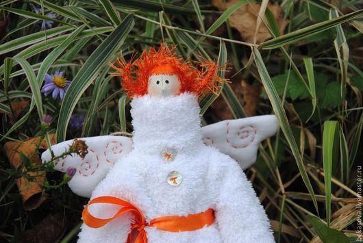 Куклы Тильды ручной работы. Ярмарка Мастеров - ручная работа. Купить Тильда  Рыжий Ангел. Handmade. Белый, кукла интерьерная
