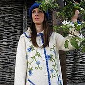"""Одежда ручной работы. Ярмарка Мастеров - ручная работа Жакет Sirogojno style """"Нежные синие цветочки"""". Handmade."""