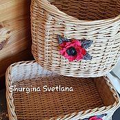 Для дома и интерьера handmade. Livemaster - original item For storing cosmetics and combs. Handmade.