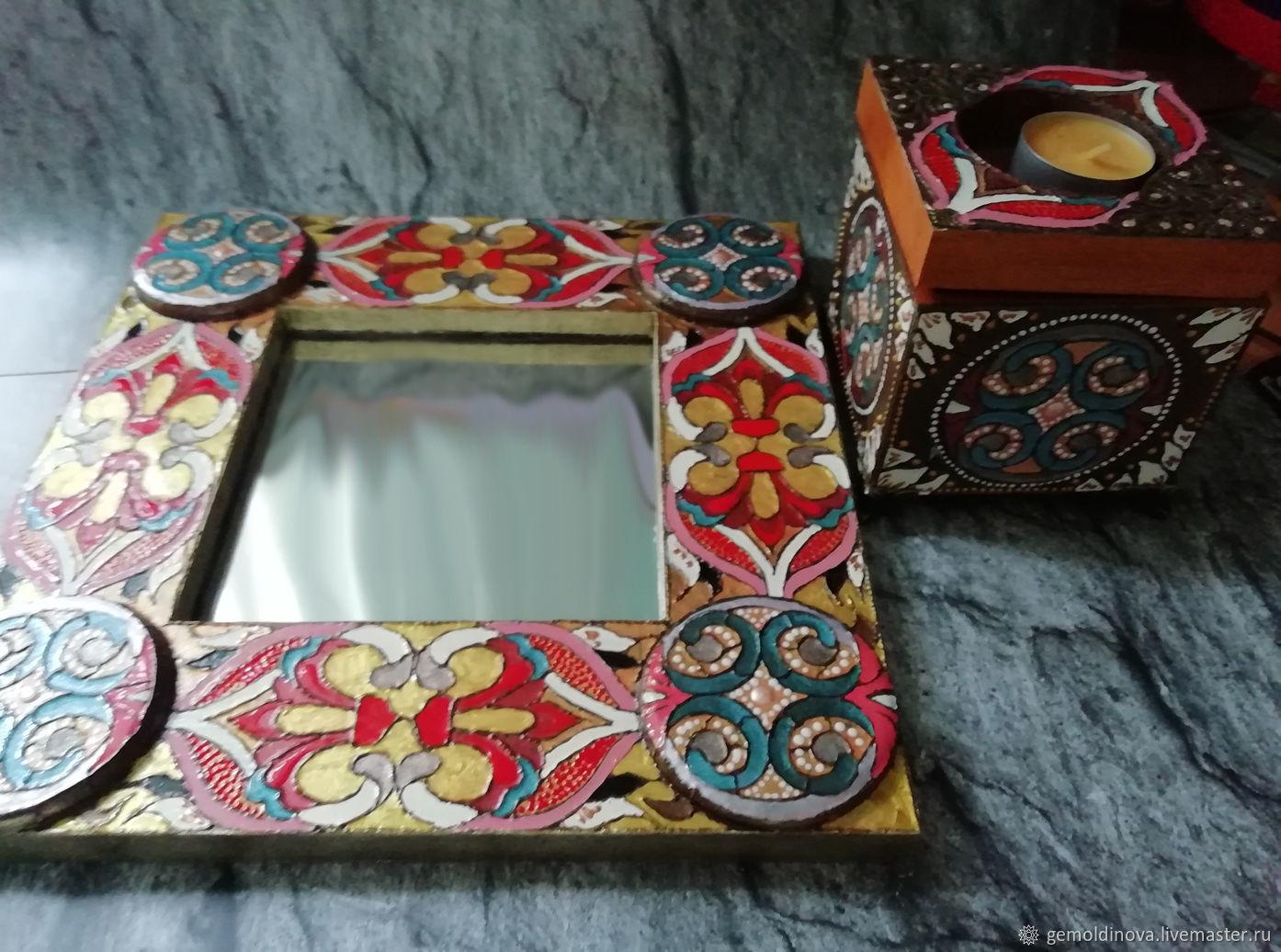Mirror jewelry box Oriental set, Mirror, Yenakiyevo,  Фото №1