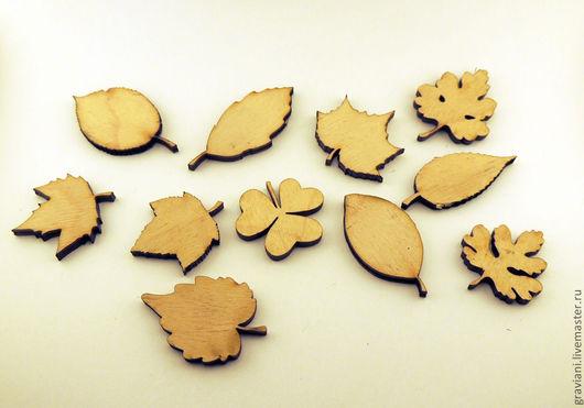 Открытки и скрапбукинг ручной работы. Ярмарка Мастеров - ручная работа. Купить Декоративные листья. Handmade. Бежевый, листья, листик, листики