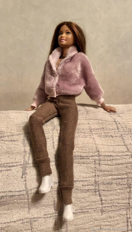 Одежда для Барби: меховая куртка для барби, Одежда для кукол, Москва, Фото №1