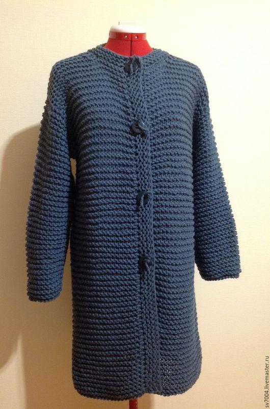 Пиджаки, жакеты ручной работы. Ярмарка Мастеров - ручная работа. Купить Кардиган -пальто. Handmade. Тёмно-синий, цвет джинс