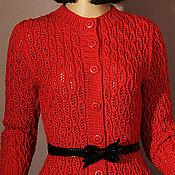 """Одежда ручной работы. Ярмарка Мастеров - ручная работа Вязаная кофточка """"Сердце Жаннетт"""". Handmade."""