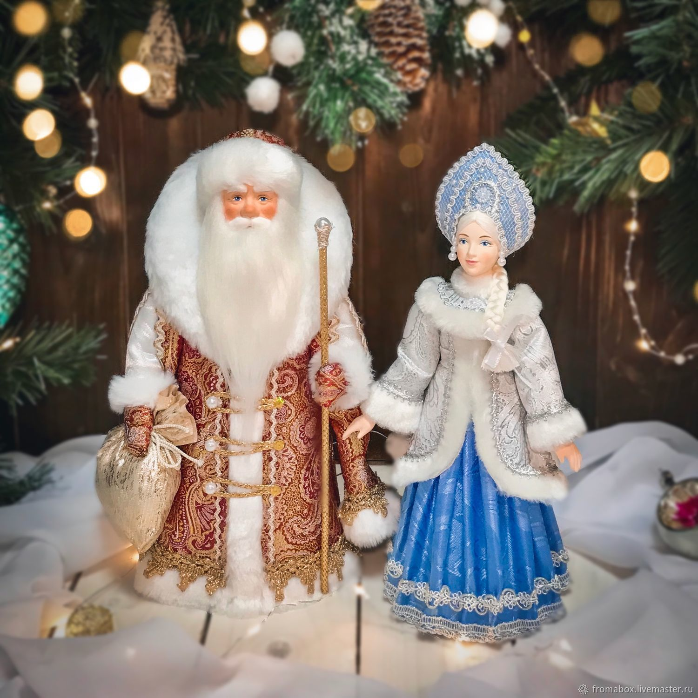 Дед Мороз и Снегурочка под елку, Народная кукла, Хотьково,  Фото №1