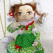 Куклы и игрушки ручной работы. Ярмарка Мастеров - ручная работа Кукла в зеленом платье игровая, коллекционная. Handmade.