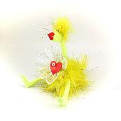 Подарки к праздникам ручной работы. Ярмарка Мастеров - ручная работа игрушка Курица желтая(пасха,год петуха,цыпленок,сердечко). Handmade.