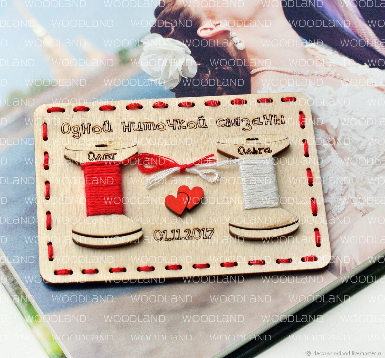 """Свадебные пригласительные из дерева. """"Вместе навсегда"""", Подарки, Москва, Фото №1"""