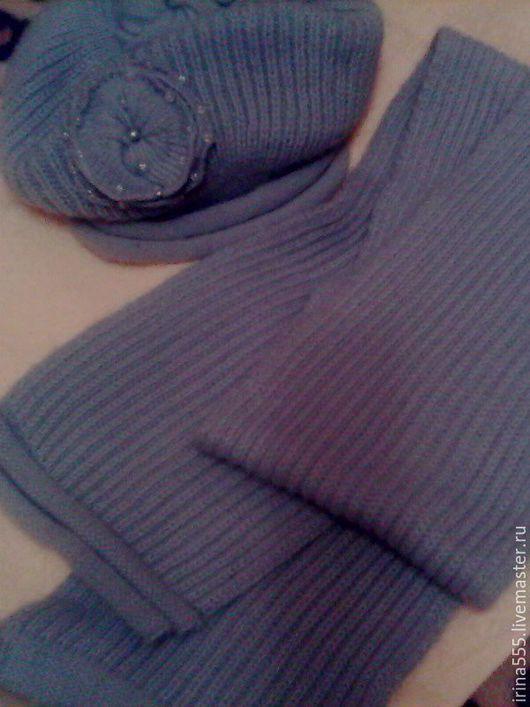 Винтажная одежда и аксессуары. Ярмарка Мастеров - ручная работа. Купить Вязаный коплект. Handmade. Серый, женская одежда, декоративные элементы