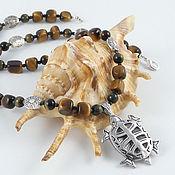 """Украшения ручной работы. Ярмарка Мастеров - ручная работа Бусы №45. """"Tribal turtle"""".. Handmade."""