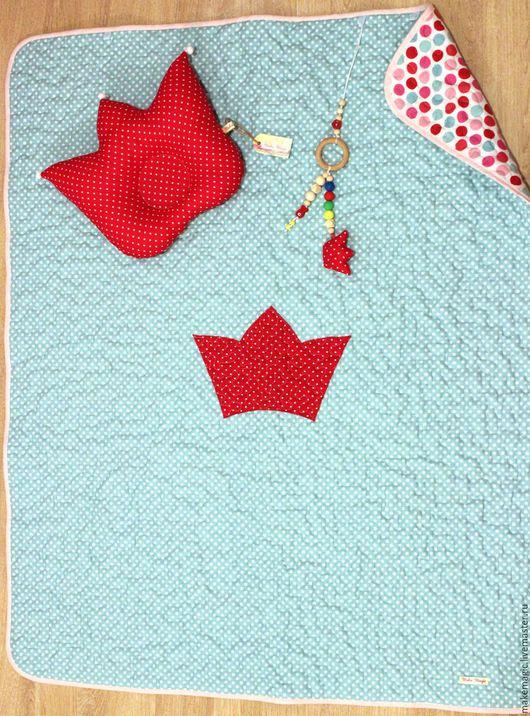 Пледы и одеяла ручной работы. Ярмарка Мастеров - ручная работа. Купить Комплект для новорожденного. Handmade. Комбинированный, пэчворк, для малыша, красный