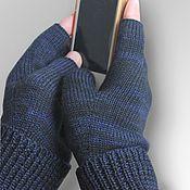 Аксессуары ручной работы. Ярмарка Мастеров - ручная работа Митенки перчатки вязаные мужские Перчатки без пальцев. Handmade.