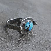 Кольца ручной работы. Ярмарка Мастеров - ручная работа Кольцо с казахстанской бирюзой, серебро. Handmade.