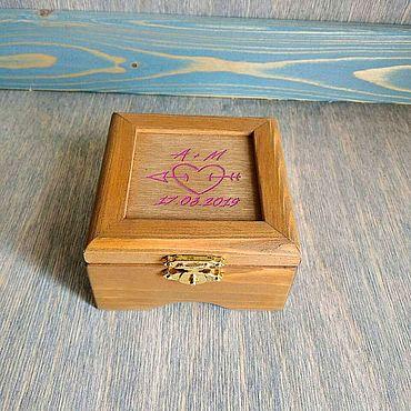 Свадебный салон ручной работы. Ярмарка Мастеров - ручная работа Шкатулка для колец на свадьбу. Handmade.