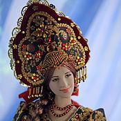 Куклы и игрушки ручной работы. Ярмарка Мастеров - ручная работа Куколка Аленушка (хохлома). Handmade.