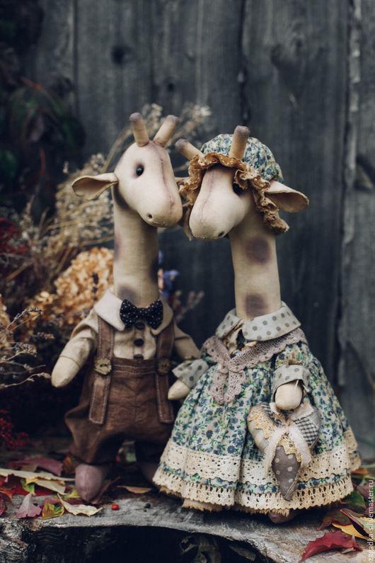 Ароматизированные куклы ручной работы. Ярмарка Мастеров - ручная работа. Купить Парочка жирафов.. Handmade. Комбинированный, семья жирафов, хлопок