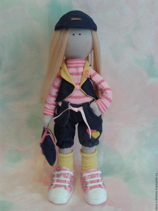 Коллекционные куклы ручной работы. Ярмарка Мастеров - ручная работа. Купить Текстильная кукла Альбина. Handmade. Розовый, трикотаж