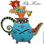 """Для дома и интерьера ручной работы. Ярмарка Мастеров - ручная работа Часы """"Рыжая чайная фея"""". Handmade."""