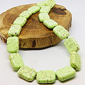 Работы для детей, handmade. Livemaster - original item Beads Bright green 46 cm. Handmade.