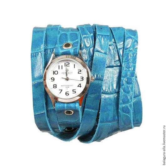 """Часы ручной работы. Ярмарка Мастеров - ручная работа. Купить Часы """"У моря"""". Handmade. Бирюзовый, часы браслет, стиль"""
