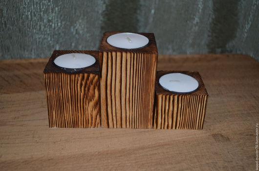 Подсвечники ручной работы. Ярмарка Мастеров - ручная работа. Купить Подсвечник из дерева. Handmade. Коричневый, подсвечник ручной работы
