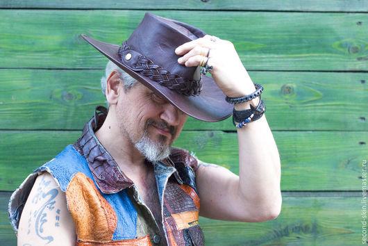 Шляпы ручной работы. Ярмарка Мастеров - ручная работа. Купить Шляпа Стетсон ковбойская. Handmade. Шляпа, вторая кожа