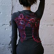 """Одежда ручной работы. Ярмарка Мастеров - ручная работа Дизайнерское платье  """"To the sky"""" by Lika Mellow. Handmade."""