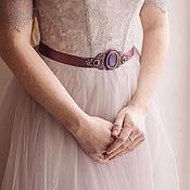 Аксессуары ручной работы. Ярмарка Мастеров - ручная работа Пояс для свадебного платья. Handmade.