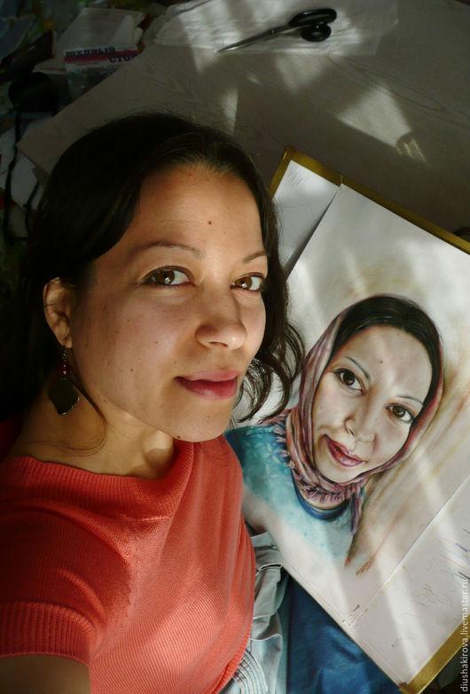 Люди, ручной работы. Ярмарка Мастеров - ручная работа. Купить Портрет по фотографии. Пастель, акварель, карандаши. Handmade. Портрет по фото