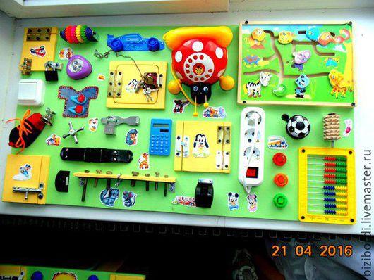Развивающие игрушки ручной работы. Ярмарка Мастеров - ручная работа. Купить Бизиборд от Георгия -11. Handmade. Комбинированный, бизиборд, Монтессори
