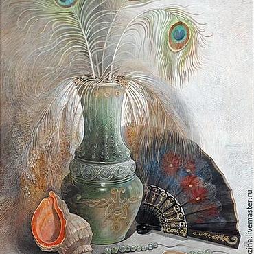 Картины и панно ручной работы. Ярмарка Мастеров - ручная работа Натюрморт с испанским веером. Handmade.