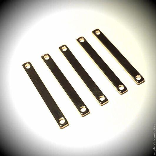 Для украшений ручной работы. Ярмарка Мастеров - ручная работа. Купить коннектор 32:3,5 мм позолоченный плоский. Handmade.