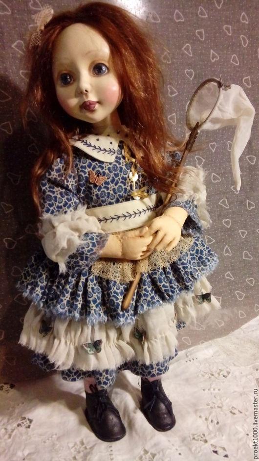 Коллекционные куклы ручной работы. Ярмарка Мастеров - ручная работа. Купить Бабочки. Handmade. Тёмно-синий, текстиль