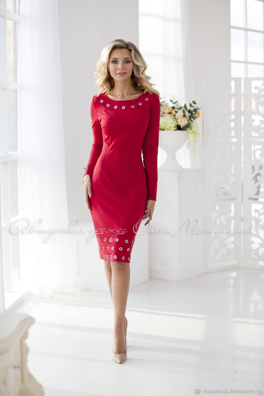 Dress 'mulled Wine' from Jersey, Dresses, St. Petersburg,  Фото №1