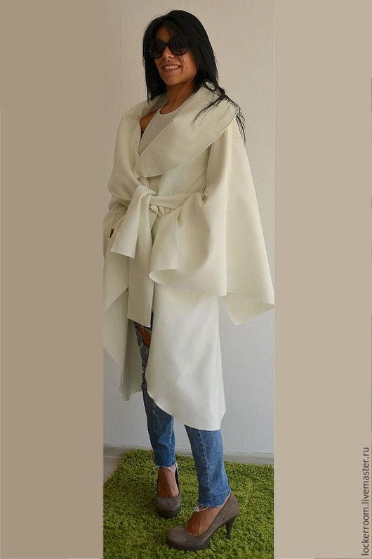 Верхняя одежда ручной работы. Ярмарка Мастеров - ручная работа. Купить Пальто Angel Wings. Handmade. Белый, стильная одежда
