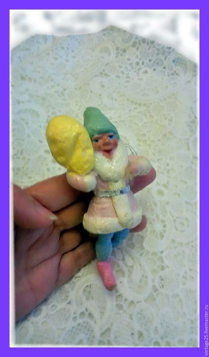 Винтажные куклы и игрушки. Ярмарка Мастеров - ручная работа. Купить Новогодняя игрушка из ваты 47 год. Handmade. Комбинированный, винтажная игрушка