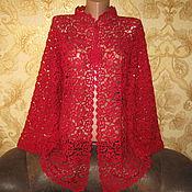 Одежда ручной работы. Ярмарка Мастеров - ручная работа Кардиган Роскошь красного. Handmade.