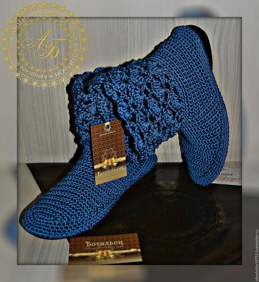 Обувь ручной работы. Ярмарка Мастеров - ручная работа. Купить Полусапожки Синтия...цвет-джинс.... Handmade. Джинсовый