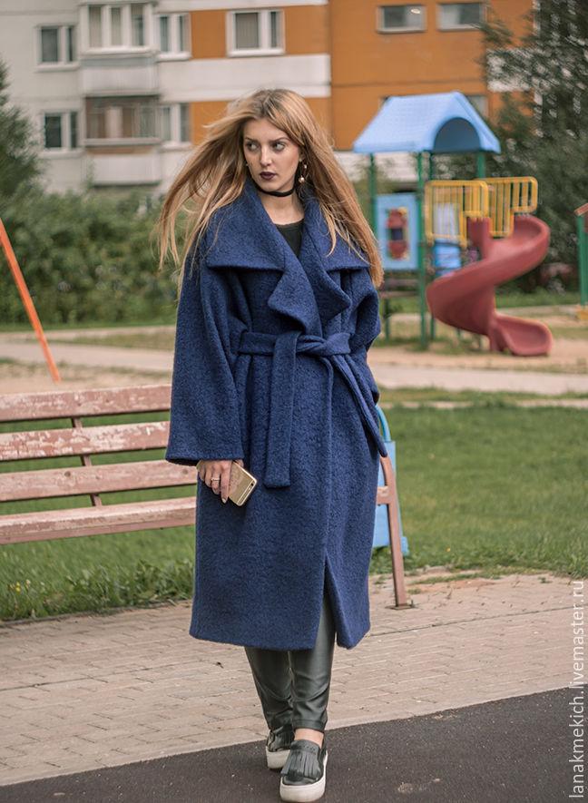 548da69c215 Пальто - халат с поясом