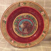"Посуда handmade. Livemaster - original item Декоративная тарелка ""Новогодняя собака"". Handmade."
