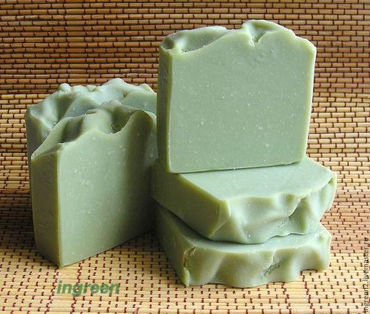 Мыло ручной работы. Ярмарка Мастеров - ручная работа. Купить Мыло алеппское (натуральное мыло с нуля). Handmade. Зеленый