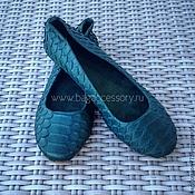 Обувь ручной работы handmade. Livemaster - original item Ballet shoes made of genuine Python leather. Handmade.