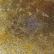 Картины и панно ручной работы. Ярмарка Мастеров - ручная работа Мозаика, декор, золотые круги и спирали. Handmade.