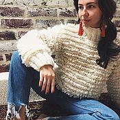 Одежда ручной работы. Ярмарка Мастеров - ручная работа Объемный свитер с петлями. Handmade.