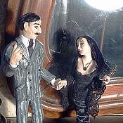 Куклы и игрушки ручной работы. Ярмарка Мастеров - ручная работа Авторские куклы Гомес и Мортиша Аддамс. Handmade.