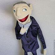 Куклы и игрушки ручной работы. Ярмарка Мастеров - ручная работа Кукла портретная театральная  тростевая Денди в стиле Мапет шоу. Handmade.