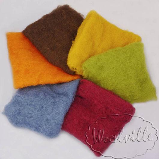 """Валяние ручной работы. Ярмарка Мастеров - ручная работа. Купить Набор шерсти """"Осень"""" 120 гр (набор шерсти для валяния). Handmade."""