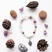 Украшения handmade. Livemaster - original item East Timor bracelet with natural stones, larimar, garnet, opal. Handmade.